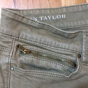 Ann Taylor Jeans w/zippers in legs